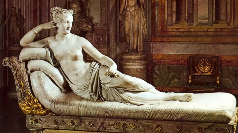 Pauline Bonaparte en Vénus par Canova