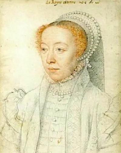 Catherine de Médicis en 1560, un an après la mort de Henri II, par François Clouet