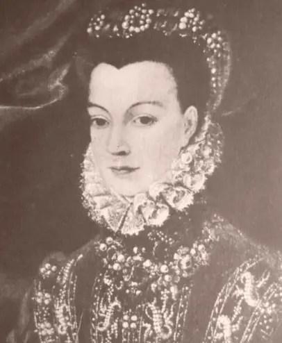 Détail d'un portrait supposé de Corisande
