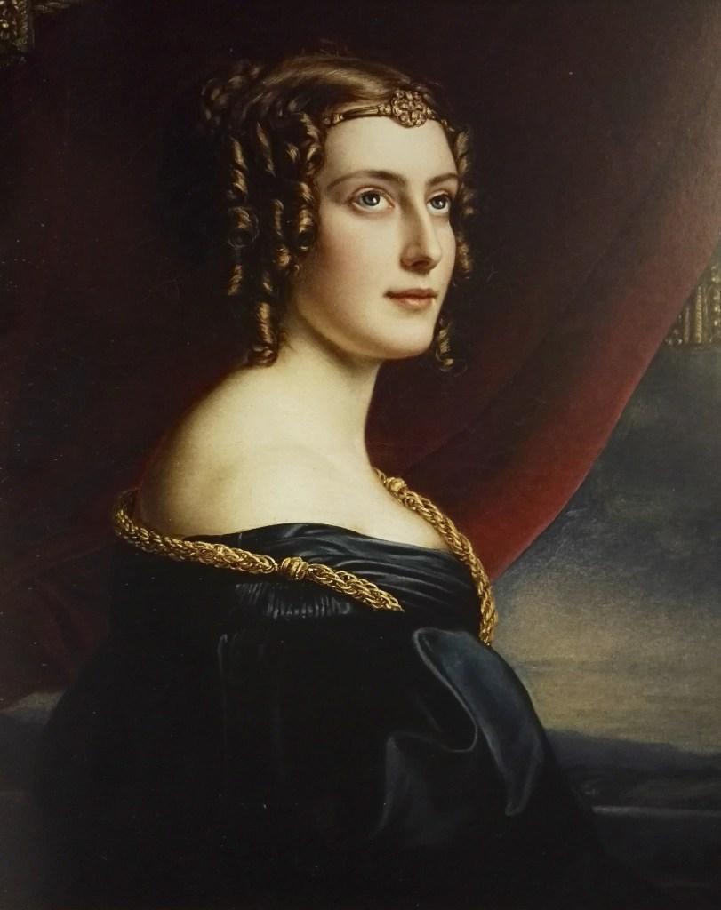 Lady Jane, comtesse d'Ellenborough - Potrait par Stieler en 1831 pour la Galerie des Beautés