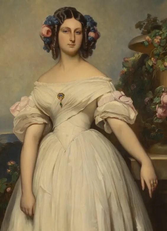 Clémentine d'Orléans par Winterhalter en 1846 - Collections du château de Versailles