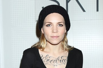 Singer Skylar Grey at the American Express Skybox during New York Fashion Week