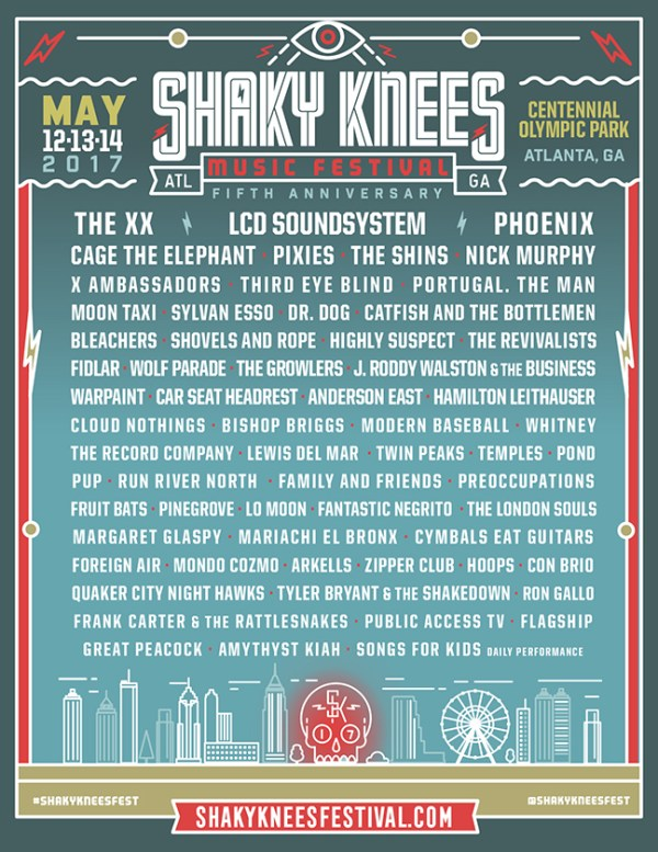 Shaky Knees 2017 Line Up Cusica Plus