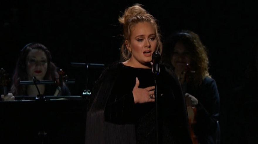Adele y los protagonistas de los Grammy 2017. Cusica plus