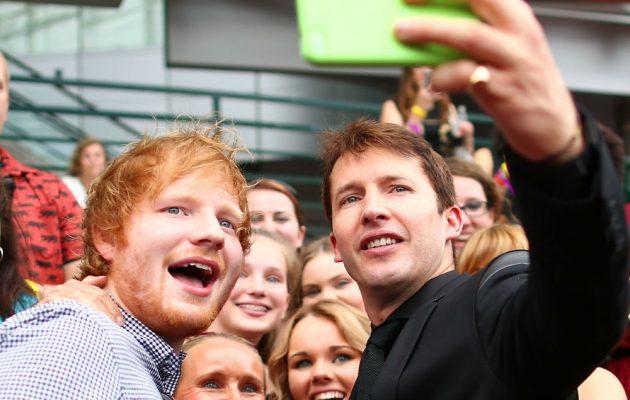 James Blunt junto a su amigo Ed Sheeran. Cusica plus