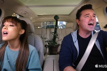 Seth MacFarlane y Ariana Grande se van a 'Little Shop Of Horrors' en 'Carpool Karaoke'. Cusica Plus.