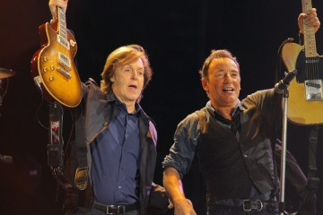 Bruce Springsteen acompaño a Paul McCartney en el Madison Square Garden. Cusica plus.