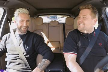 La policía detiene a James Corden y Adam Levine en Carpool Karaoke. Cusica Plus.