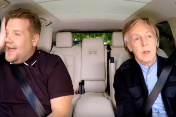 James Corden and Paul Mccartney on Carpool Karaoke