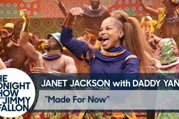 """Janet Jackson y Daddy Yankee cantan por primera vez en vivo """"Made For Now"""" en el Show de Jimmy Fallon. Cusica Plus."""