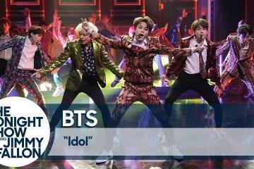 """BTS se presentó en el show de Jimmy Fallon para interpretar su nuevo tema """"Idol"""". Cusica Plus."""