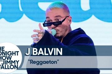 "J Balvin se presentó en el show de Jimmy Fallon para cantar ""Reggaeton"". Cusica Plus."