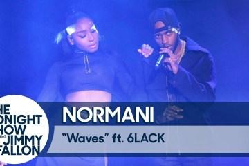 """Normani y 6LACK se presentaron en el show de Jimmy Fallon para cantar """"Waves"""". Cusica Plus."""
