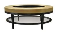 Plush Home carlisle oval coffee table ottoman
