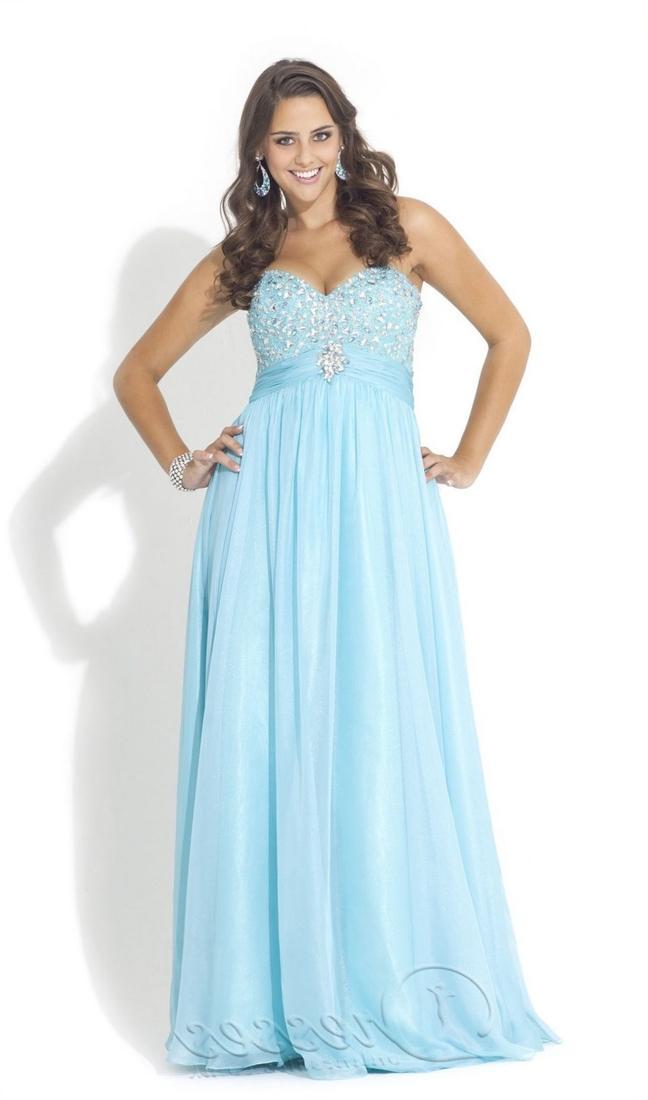 Plus size blue bridesmaid dresses