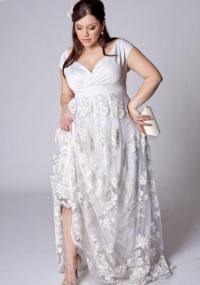 Plus size black and white dress - PlusLook.eu Collection
