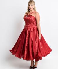 Satin plus size dresses - PlusLook.eu Collection