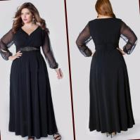 Plus size long chiffon dresses - PlusLook.eu Collection
