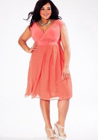 Peach plus size dresses - PlusLook.eu Collection