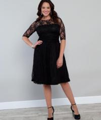 Plus size lace cocktail dress - PlusLook.eu Collection