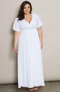 Long white dress plus size - PlusLook.eu Collection
