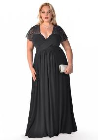 Plus size short evening dresses