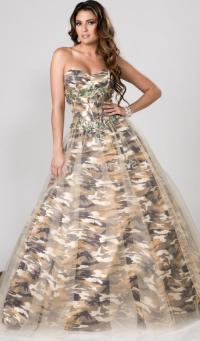 Plus size camouflage dresses