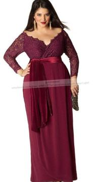 Long sleeved plus size dress - PlusLook.eu Collection