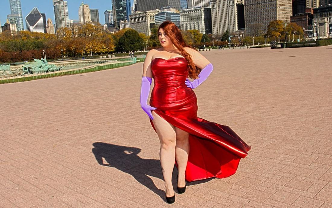 Plus Size Jessica Rabbit Costume Meningrey