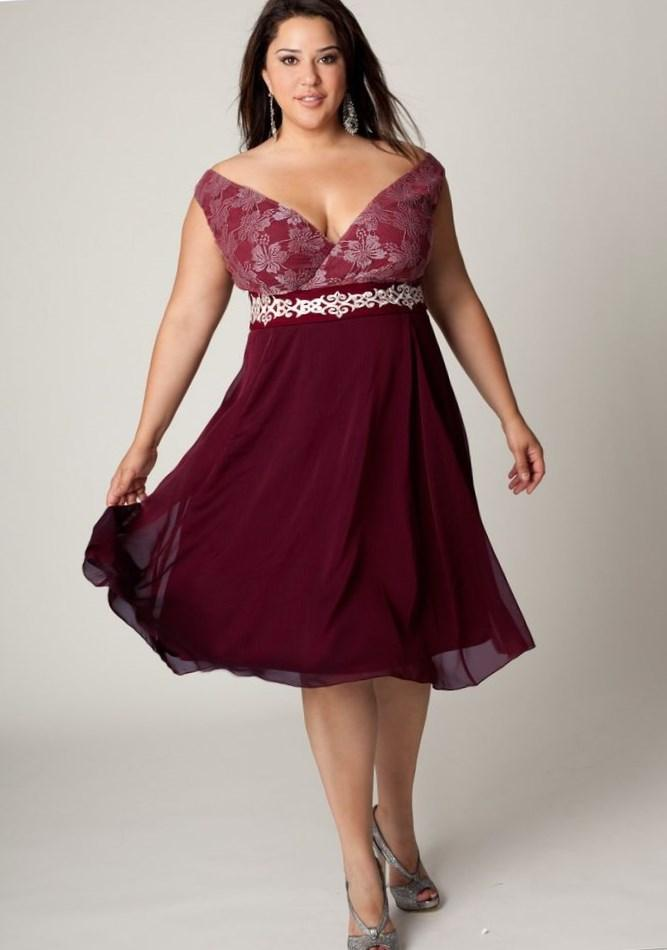 Plus size short prom dress