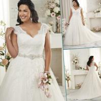 Couture plus size wedding dresses