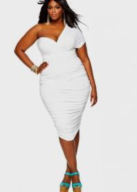 White party dresses for plus sizes - PlusLook.eu Collection