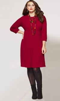 Plus size sweater dresses for fall 2018 - PlusLook.eu ...
