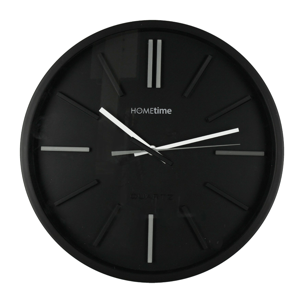 Black Modern Wall Clock Wall Clock Png Black And White Transparent Wall Clock