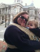 plus size babywearing Infantino