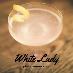 White lady - 3 simple cocktails perfect for Valentines day.
