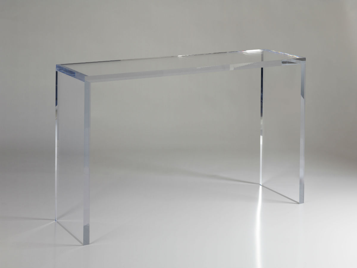 Table Plexiglas Transparent Console Transparente Plexiglas Table De Lit