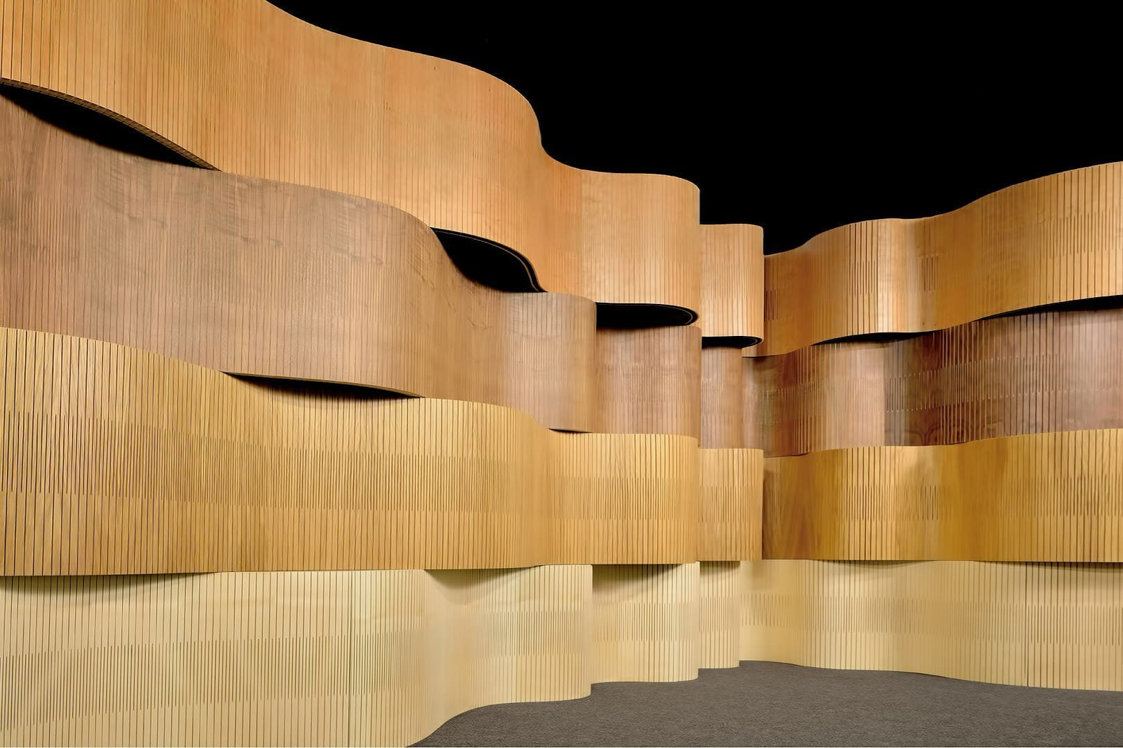 Bar Design Showroom Design | Curve Wall | Ply Project