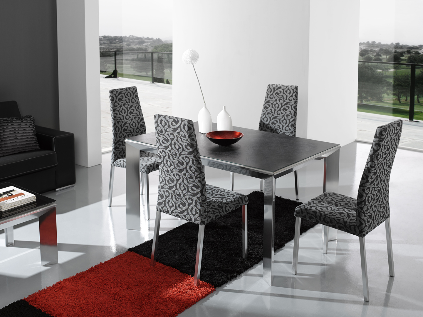 Modern Dining Set Black Contemporary Dining Room Sets