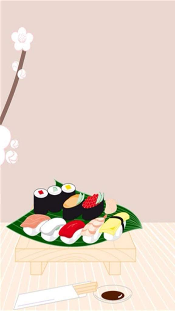 Cute Cartoon Sushi Wallpaper Kawaii Sushi Wallpaper Wiki Anime Amino