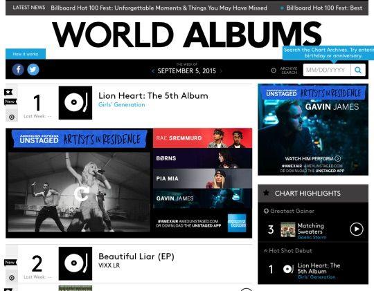Girls\u0027 Generation Number 1 in Billboard World Album Charts K-Pop Amino