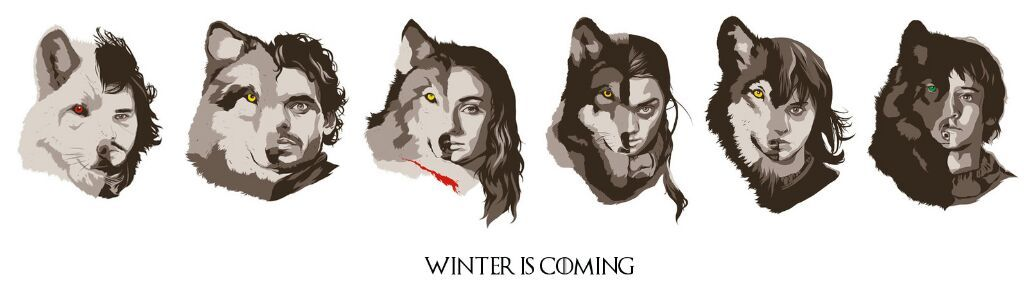When The Snow Falls And The White Wind Blows Wallpaper Stark Direwolves Are Their Names A Hidden Meaning