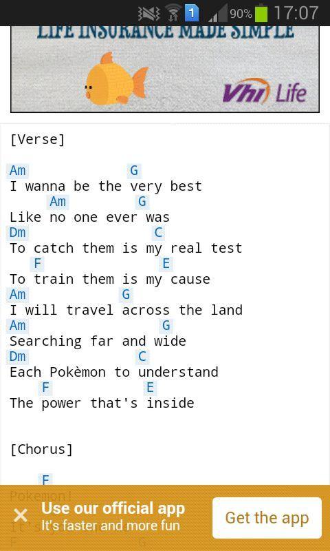 Pokemon Theme Song Acoustic Guitar Tab - LTT