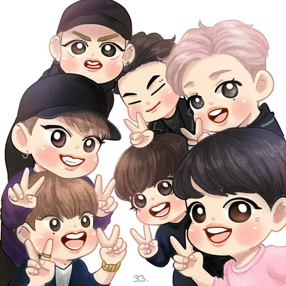 Cute Korean Animated Hd Wallpaper Cutest Got7 Fanarts 🤗💓 K Pop Amino