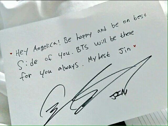 Angelica\u0027s Letter from bts member ARMY\u0027s Amino
