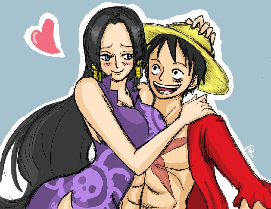 I would say Luffy and Boa Hancock *-* ^_^, they are just so adorable and awesome ...