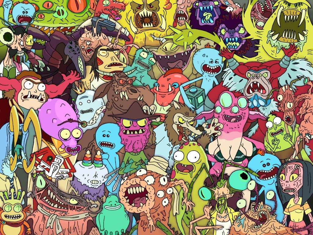 Gravity Falls All Characters Wallpaper 25 Awesome Rick Amp Morty Wallpapers Ii Rick And Morty Amino