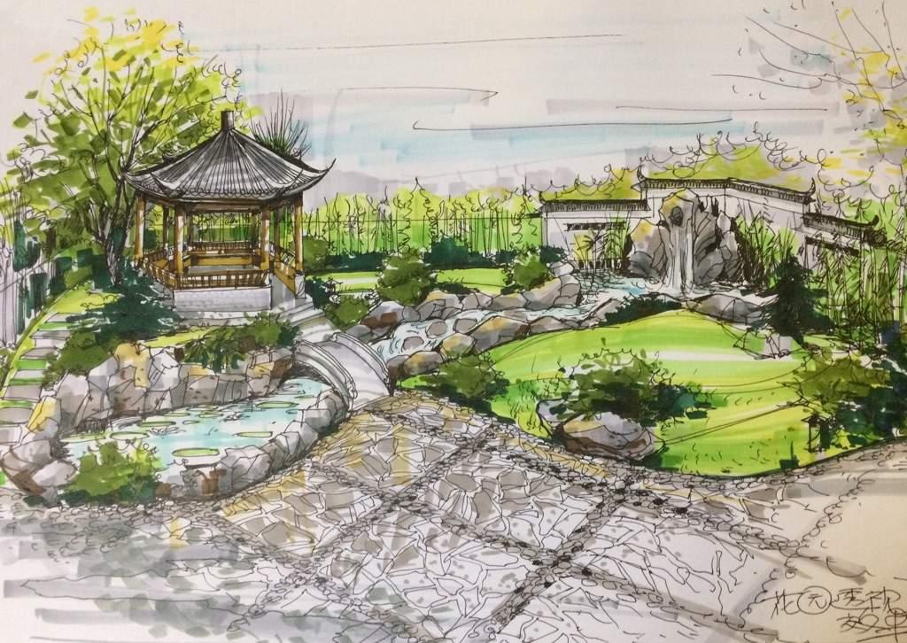 中式花园设计Chinese garden design Art Amino - chinese garden design