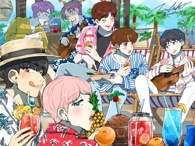 Butterfly Wallpaper For Desktop With Animation Fanart 2 If Bts Were Anime Army S Amino