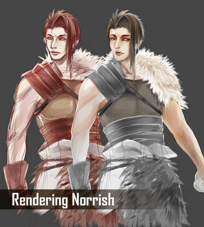 WIP Norrish - Coloring from Grayscale Art Amino